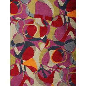 Virginia - Multi - Fabric with multi coloured block pattern