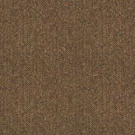 Harris Tweed - Wolf Tooth Grouse Moor Bracken - Dark brown and grey coloured 100% wool fabric, woven with a slightly patchily coloured, smal