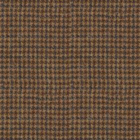 Harris Tweed - Wolf Tooth Regal Estate Loden - A small houndstooth design woven into fabric made from 100% wool in very dark shades of grey,