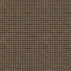 Harris Tweed - Stag Check Regal Estate Loden - Blood red, gunmetal grey and midnight blue coloured fabric woven from 100% wool with a tiny h