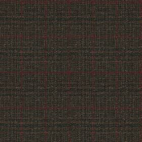 Harris Tweed - Stag Check Regal Estate Loden - Fabric made from 100% wool, woven with a very subtle checked grid design in plum and charcoal