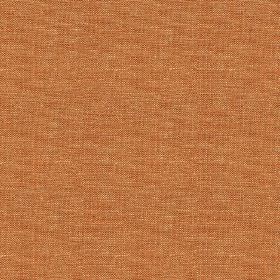 Brunel Plain - Saffron - Very slightly patchy, deep salmon pink coloured fabric made entirely from linen