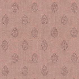 Ambleside Leaf - Raspberry - Fabric made from 100% cotton in two light, dusky shades of purple, printed with rows of leaf patterned teardrop