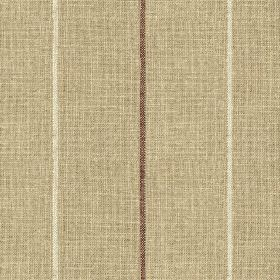 Brunel Stripe - Plum - Fabric made from 100% linen, with a widely spaced, thin vertical line design, made in light grey, white and dark brow