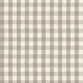 Breton - Clay - Steel grey and white coloured 100% cotton fabric printed with a simple, stylish checked design