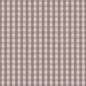 Breton - Damson - Fabric made from 100% cotton in purple-grey and very pale grey-white, featuring a simple, stylish checked design