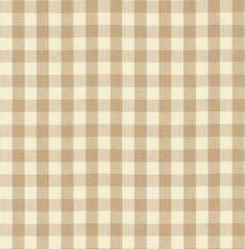 Breton - Parchment - Checked fabric made from 100% cotton, with a simple, stylish design in white and light brown-beige colours