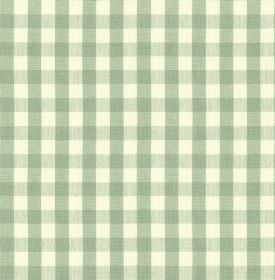 Breton - Thyme - Duck egg blue coloured checks creating a simple, stylish design on a white 100% cotton fabric background
