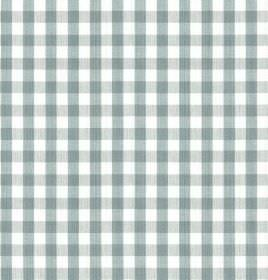 Breton - Wedgewood - 100% cotton fabric printed with a simple, stylish checked design in dusky blue and white