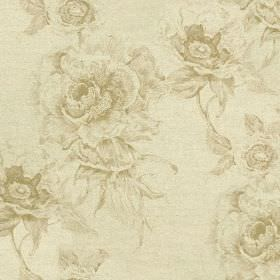 Chatsworth Print - Parchment - Cotton and linen blend fabric made in cream and light beige shades, featuring a pattern of elegant, glamorous