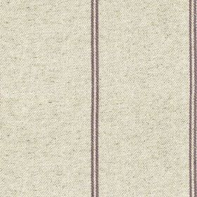 Galway Stripe - Heather - Slightly speckled pale grey-white coloured cotton-linen fabric, with pairs of thin dark grey vertical stripes