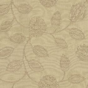 Ambleside Floral - Clay - Two warm beige colours making up a subtle pattern of stylised, patterned flowers and leaves on 100% cotton fabric