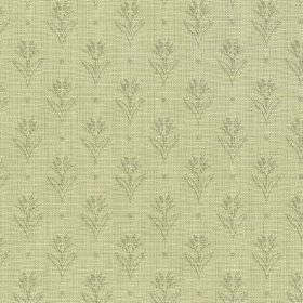 Ambleside Sprig - Sage - Two similar pale green-grey shades making up a 100% cotton fabric with a subtle pattern of small, simple flowers &