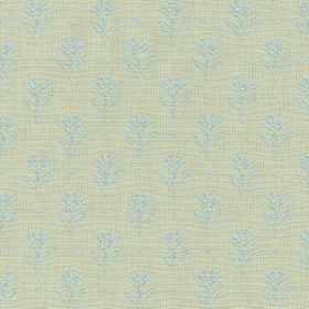Ambleside Sprig - Spring Blue - Fabric made from 100% cotton in icy blue and pale blue-grey, featuring rows of very subtle, small, simple fl