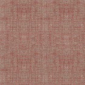 Benson - Brick - Linen and cotton blend fabric woven using threads in light silver-grey and rich cherry colours