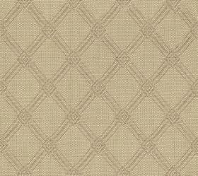 Ambleside Trellis - Clay - Beige coloured fabric made from 100% cotton, printed with a subtle, light grey design of a simple, stylish diagon