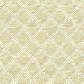 Ambleside Trellis - Cream - Fabric made from 100% cotton in light stone grey and white, featuring a simple, stylish design of a diagonal gri