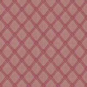 Ambleside Trellis - Raspberry - A diagonal grid creating a simple, stylish, dark pink design on fabric made from 100% cotton in light purple