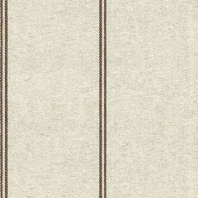 Galway Stripe - Mocha - Cotton and linen blend fabric made in a light shade of grey, featuring a simple design of pairs of thin vertical str
