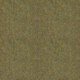 Harris Tweed Herringbone - Mountain bracken - Dark khaki and grey coloured threads woven together into a versatile 100% wool fabric