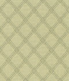Ambleside Trellis - Sage - 100% cotton fabric made in pale grey, printed with a simple, stylish diagonal grid design in a pale green-grey co