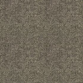Harris Tweed Herringbone - Slate Grey - A small herringbone weave covering fabric made from 100% wool in two different dark shades of grey