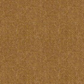 Harris Tweed Herringbone - Winter Wheat - Fabric made from 100% wool, woven with a very small, simple herringbone weave in chocolate brown a