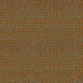 Harris Tweed Houndstooth - Mountain bracken - A tiny, simple checkerboard style design woven into 100% wool fabric in rich rust and dusky ma