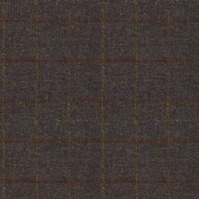 Harris Tweed Huntsman Check - Ocean Spray - Midnight blue, blood red and light creamy gold coloured 100% wool fabric woven with a very thin,