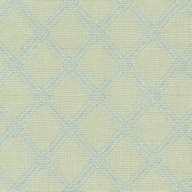 Ambleside Trellis - Spring Blue - 100% cotton fabric printed with a subtle, simple, stylish diagonal grid pattern in pale shades of grey and