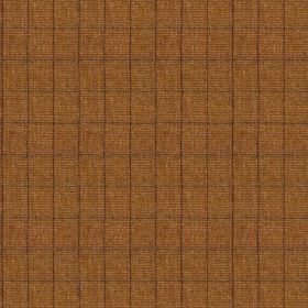 Harris Tweed Huntsman Check - Winter Wheat - Very thin lines making up a dark purple coloured grid on a background of 100% wool fabric made