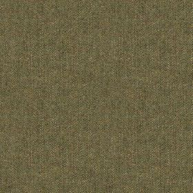 Harris Tweed Hebrides - Glenside Green - Threads in dark shades of grey and beige woven together into a versatile 100% wool fabric
