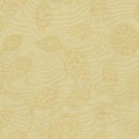 Ambleside Floral - Corn - Beige 100% cotton fabric featuring a subtle cream coloured design of elegant, patterned, stylised flowers and leav