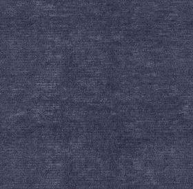 Ambleside Velvet - Navy - Fabric made from 100% cotton in navy blue, featuring a subtle patchily coloured finish in light grey