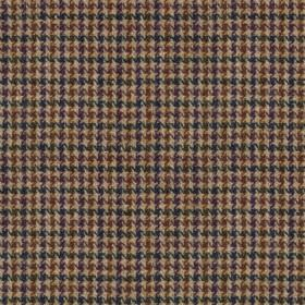 Harris Tweed - Wolf Tooth Glen Monarch Heather - A tiny houndstooth design woven into cream, black and chocolate brown coloured 100% wool fa