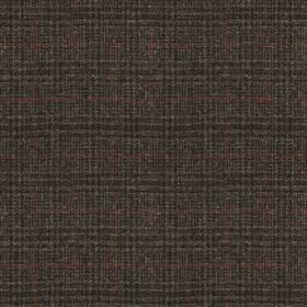 Harris Tweed - Stag Check Atlantic Crag Grey - Very dark grey coloured 100% wool fabric behind a simple, thin checked design woven in charco