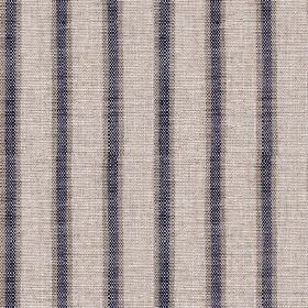 Colthurst Stripe - Bilberry - Dark blue-grey, steel grey and pale grey coloured, subtly streaked stripes woven into viscose-linen fabric