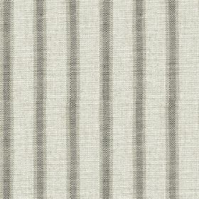 Colthurst Stripe - Slate - Viscose and linen blend fabric woven with vertical stripes and a subtly streaked finish in three light shades of