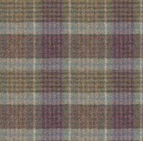 Bertie - Col 4 - Fabric made from 100% wool, featuring a checked design in light, muted shades of grey, purple and cream