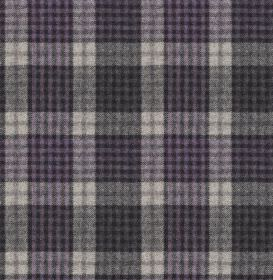 Bertie - Col 8 - Classic checked fabric made from 100% wool in off-white and various indulgent dark shades of blue-grey