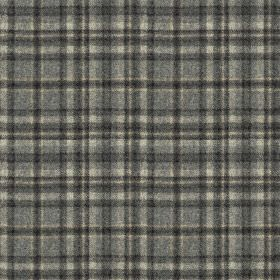 Harrogate Plaid - Grey-Black - Several different shades of grey making up a stylish, sophisticated checked design on fabric made from 100% w
