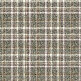 Harrogate Plaid - Heather - Fabric made from 100% wool in white and several different dark shades of grey, covered with a stylish checked de