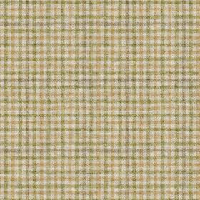 Ilkley - Natural-Green - Nude, olive green-grey andgrey lines making up a small, simple checked style grid design on off-white 100% wool fa