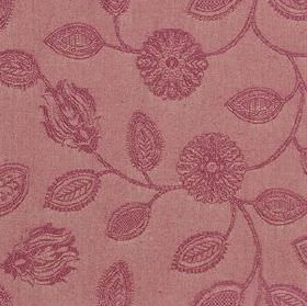 Ambleside Floral - Raspberry - Fabric made from 100% cotton in 2 similar dark shades of pink, with an elegant, stylised, patterned floral &