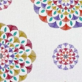 Fiesta - Brights - Colorful circular design on fabric made entirely out of cotton