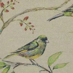 Dawn Chorus - Dove - Adorable birds printed on fabric made from cotton and linen