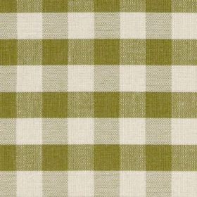 Breton - Lime Green - Checkered lime green design on fabric made entirely from cotton