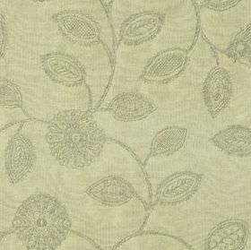 Ambleside Floral - Sage - An elegant design of patterned, stylised flowers and leaves on pale green-grey coloured 100% cotton fabric
