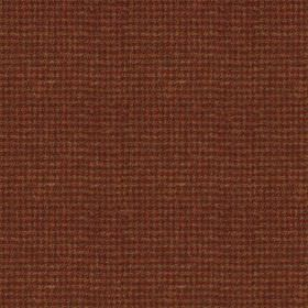 Harris Tweed Houndstooth - Burnt Umber - A luxurious, tiny burgundy and caramel coloured checkerboard design woven into fabric made with a 1