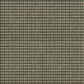 Ilkley - Blue - Dark blue-grey, charcoal & ash grey colours making up a small, simple checked grid design on fabric made from 100% wool